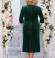 LIA4599 Zaļa samta kleita