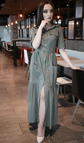 LIA5989 Gara kokvilnas kleita