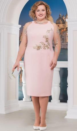 3-1288 Gaiši rozā krāsas kleita