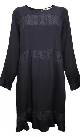 3-1263 Melna kleita ar mežģīni