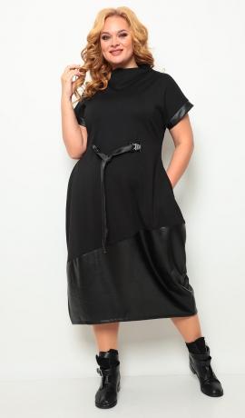 LIA7708 Melna boho stila kleita