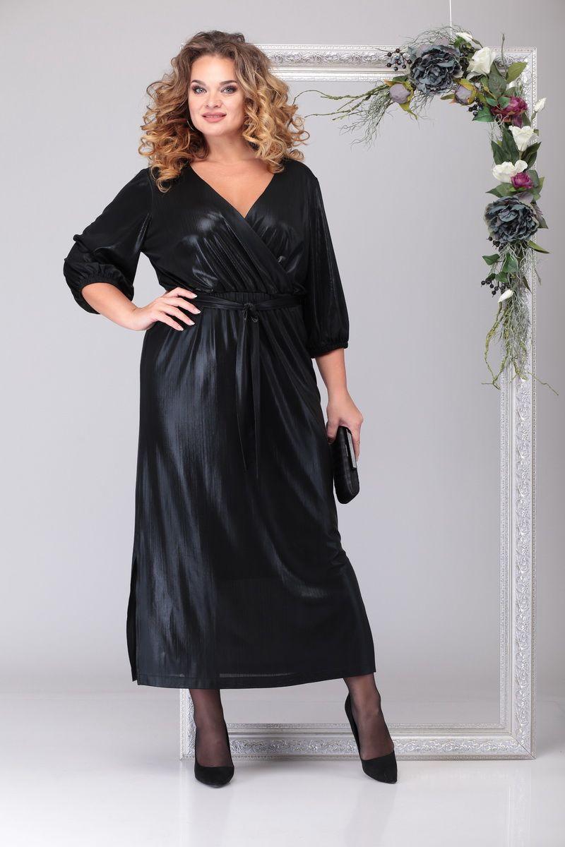 LIA6741 Melnas krāsas kleita