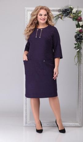 LIA6720 Violeta kleita ar kabatām