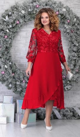 3-13652 Sarkana svētku kleita