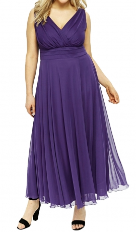 3-1268 Violeta šifona kleita