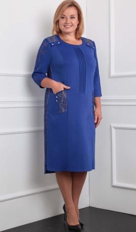 3-1148 Zila trikotāžas kleita