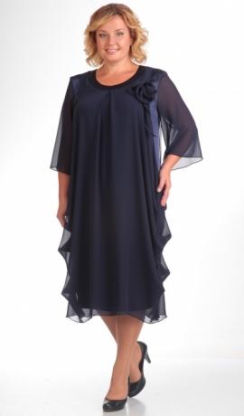 LIA0579 Tumši zilas krāsas kleita