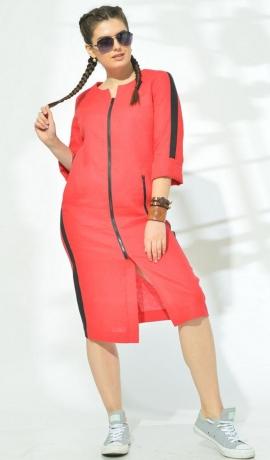 LIA5846 Sarkana lina kleita