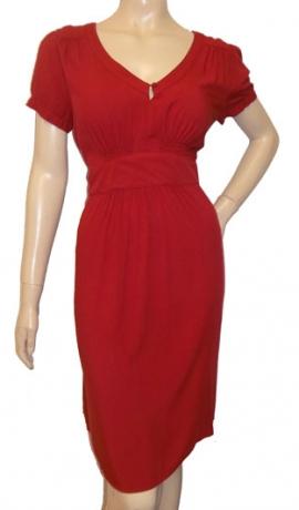 3-0453 Sarkana džersijas kleita