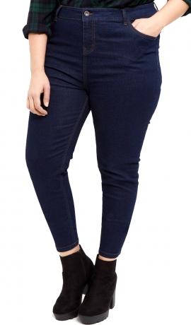 5-0358 Tumši zili skinī kokvilnas džinsi