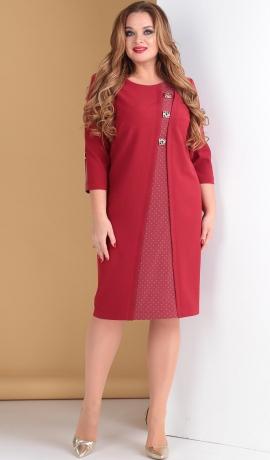 LIA5052 Vīna krāsas kleita