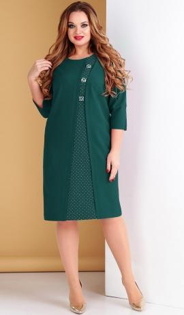 LIA5053 Smaragdzaļa kleita