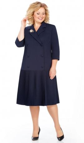 LIA3642 Tumši zila kleita