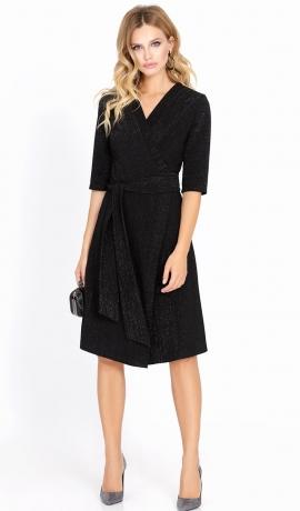 3-0950 Melna kleita ar spīdumu