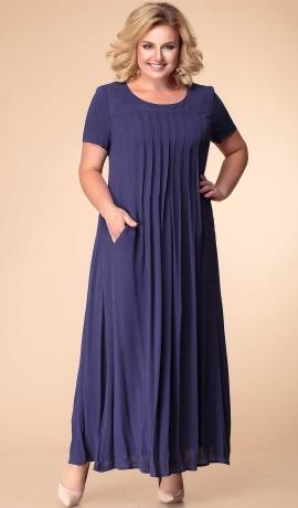 LIA7270 Tumši zila kleita