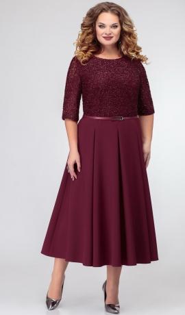 LIA7291 Bordo krāsas kleita
