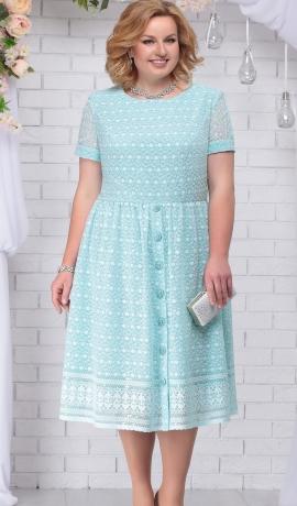 3-1621 Piparmētru krāsas kleita