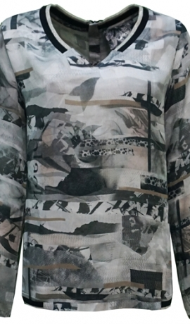 1-1079 Sportiska stila krekls ar apdruku