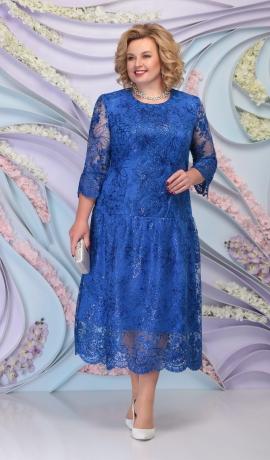 LIA6093 Mežģīņu kleita ar spīdumu