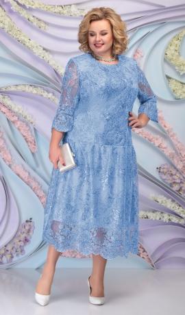 LIA6094 Mežģīņu kleita ar spīdumu