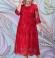 LIA6090 Mežģīņu kleita ar spīdumu