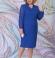 LIA6082 Zila kleita ar šifona piedurknēm