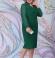 LIA6077 Smaragdzaļa kleita ar šifona piedurknēm