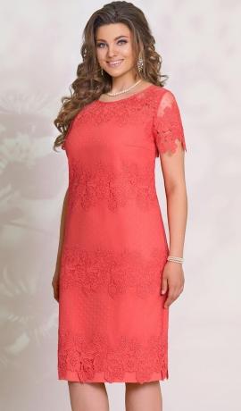 LIA3473 Koraļkrāsas kleita