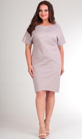 3-1791 Rozā kokvilnas kleita