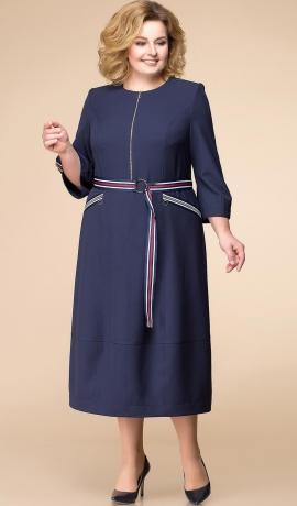 LIA2030 Tumši zila ikdienas kleita