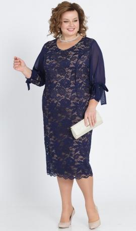 LIA2023 Zila mežģīņu kleita