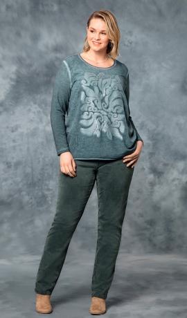 5-0415 Smaragdzaļas krāsas džinsi