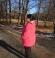 6-0298 Rozā parka ar noņemamu kapuci