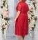 LIA5354 Sarkana mežģīņu kleita