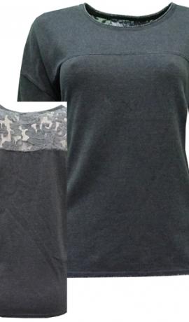 2-0384  Tumši pelēks džemperis.