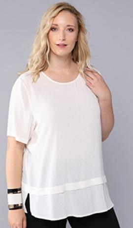 1-1090 Balta krekla blūze.
