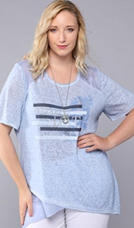 1-1093 Pelēks krekls ar apdruku