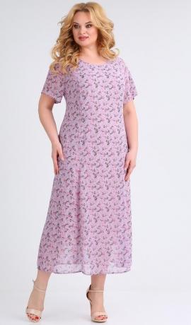LIA5563 Gaiša raksta kleita