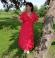 3-0177 Laškrāsas kleita ar izšuvumiem un tamborējumiem