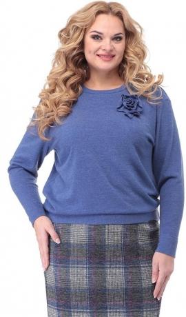 2-0414 Zils trikotāžas džemperis