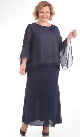 LIA1013 Tumši zila gara kleita