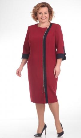 LIA1519 Sarkana kleita ar rāvējslēdzi