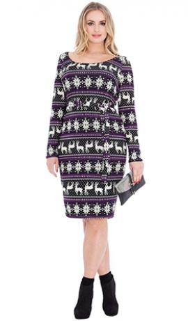 3-0478 Violeta kleita ar ziemeļbriežiem