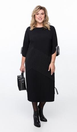 LIA6562 Melna kleita ar kabatām