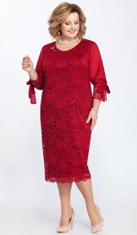 LIA2321 Sarkana mežģīņu kleita