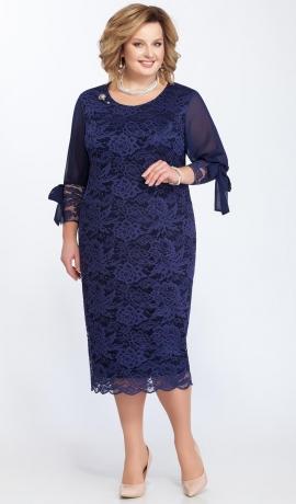 LIA2319 Zila mežģīņu kleita