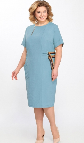 LIA3463 Gaiši zila kleita