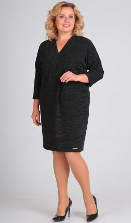 3-1384 Melna kleita ar spīdumu