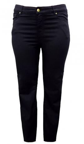 5-0355 Melnas garas šauras džinsas