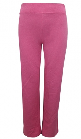 5-0354 Elastīgas brīvā laika kokvilnas bikses rozā krāsā